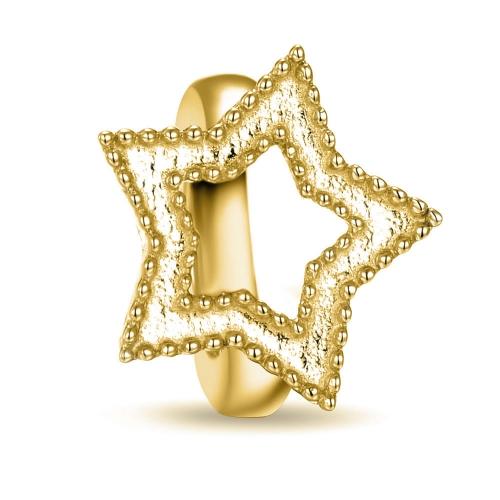 Star Charm vergoldet