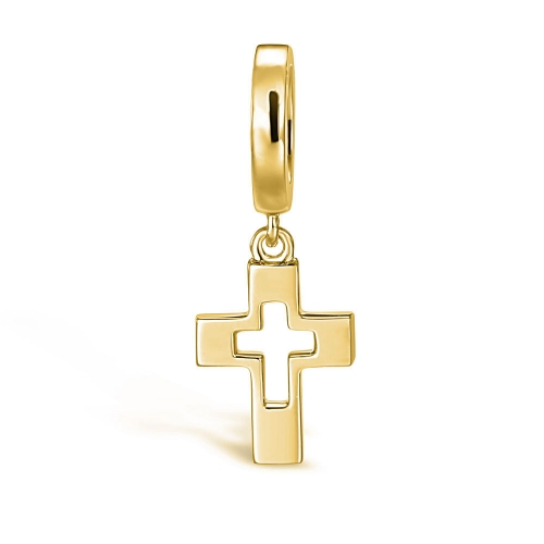 Cross Charm Pendant gold-plated