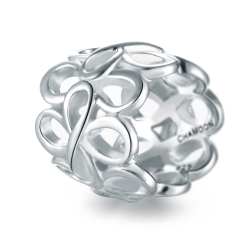 Infinity Charm Silber