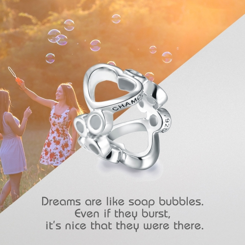 Bubbles Charm Silber