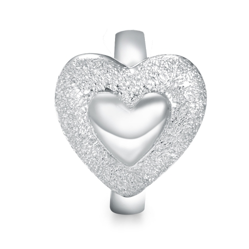 Adorable Heart Charm Silver