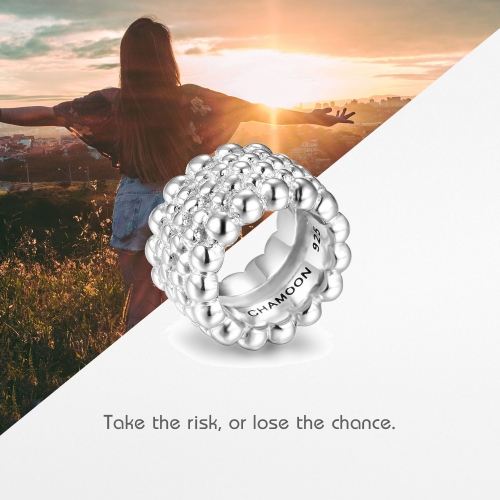 Circles of Life Charm Silber