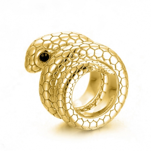 Snake Charm gold-plated