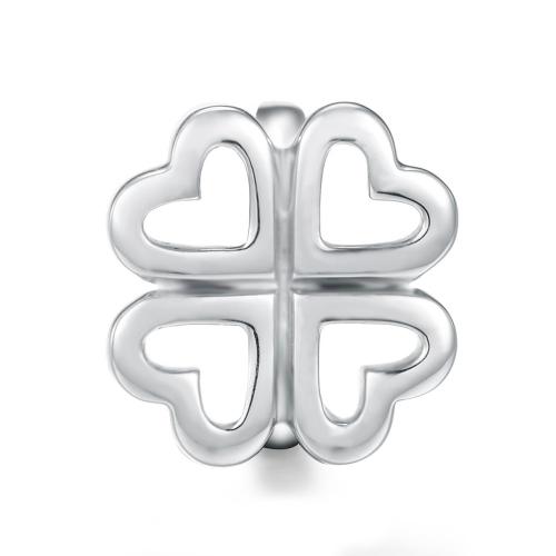 Four Leaf Clover Charm Silber