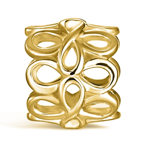 Infinity Charm gold-plated