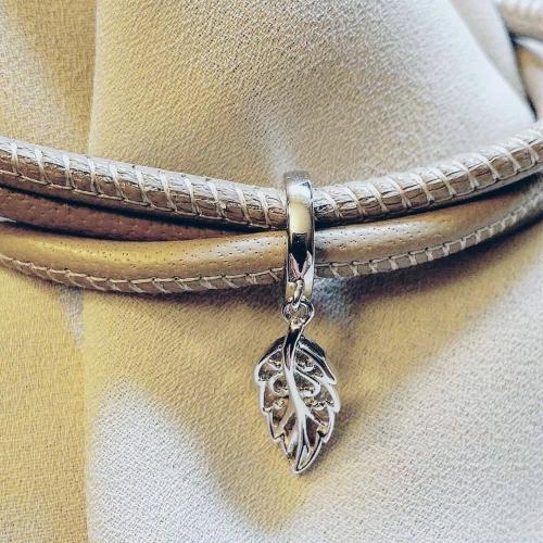 Leaf Charm Silber