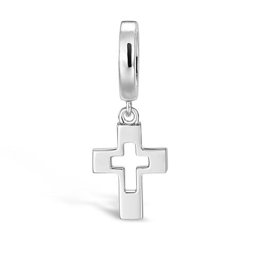 Cross Charm Pendant Silver
