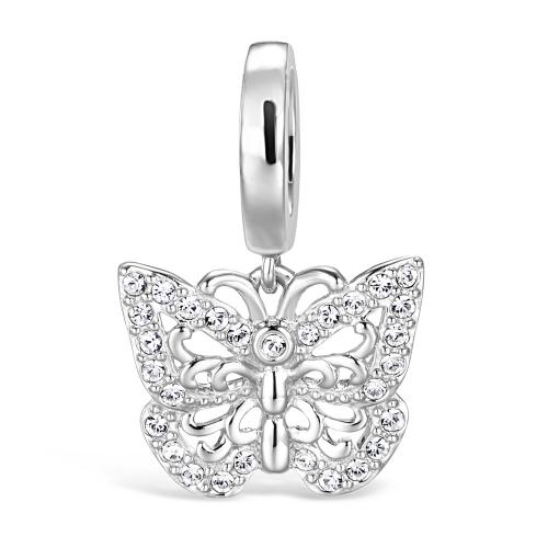 Butterfly Charm-Anhänger Silber