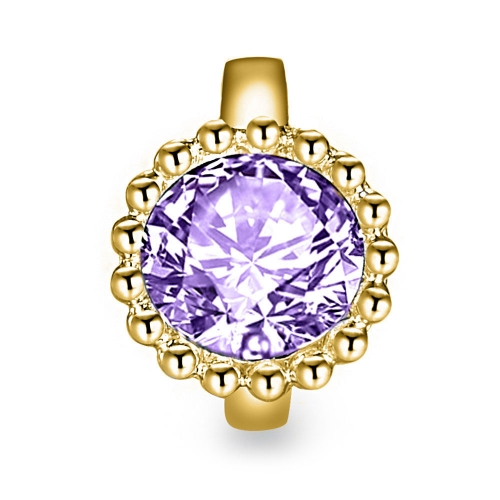 Ultra Violet Crystal Charm gold-plated