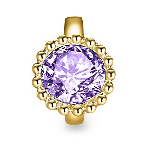Ultra Violet Crystal Charm vergoldet