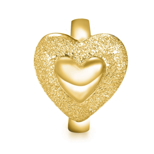 Adorable Heart Charm vergoldet