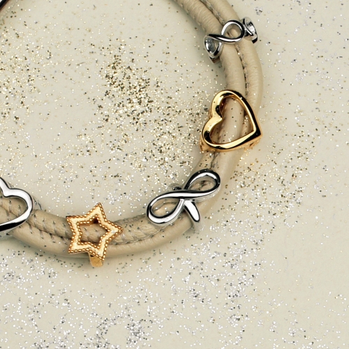 Open Heart gold-plated