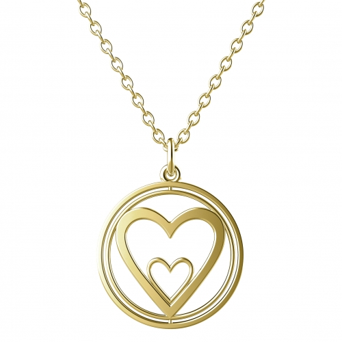 Heart Necklace Gold
