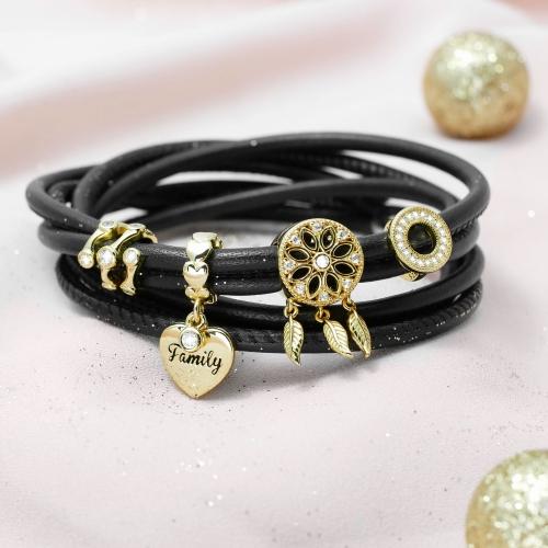 Armband mit Traumfänger Anhänger Gold