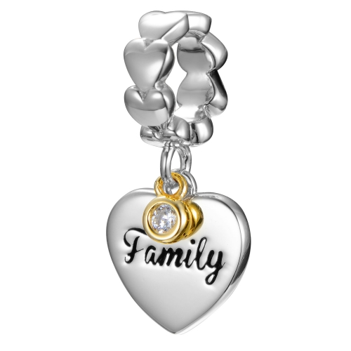 Family Love Charm Silber