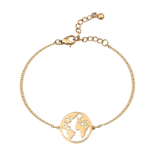 BonnyWorld Armband Weltkugel Gold
