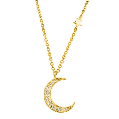 Mond Kette Gold