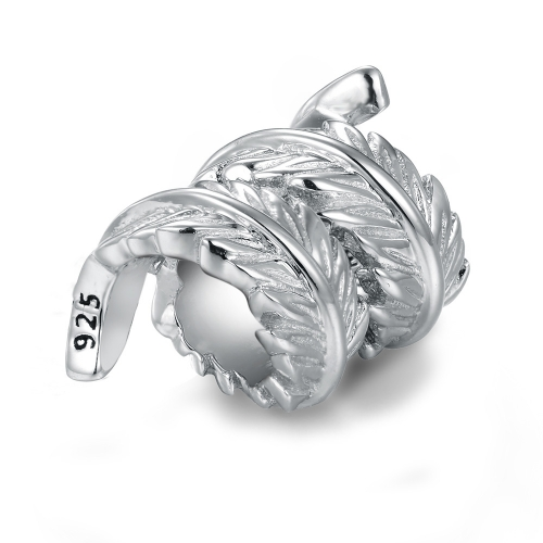 Feather Charm Silber