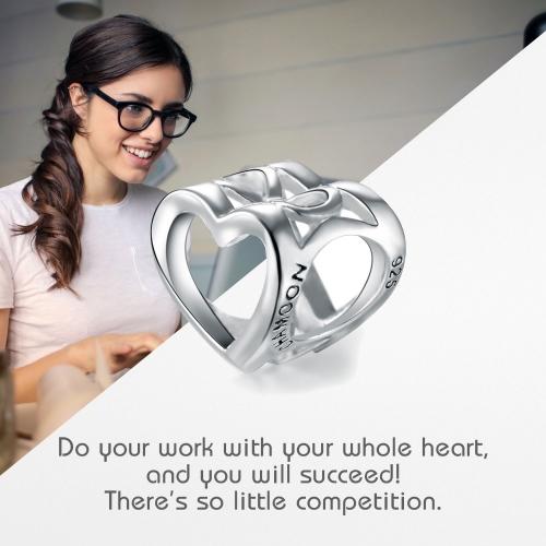 Open Heart Silber