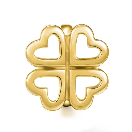 Four Leaf Clover Charm gold-plated