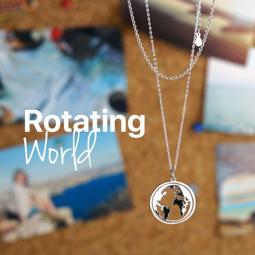 World Necklace Rotating World