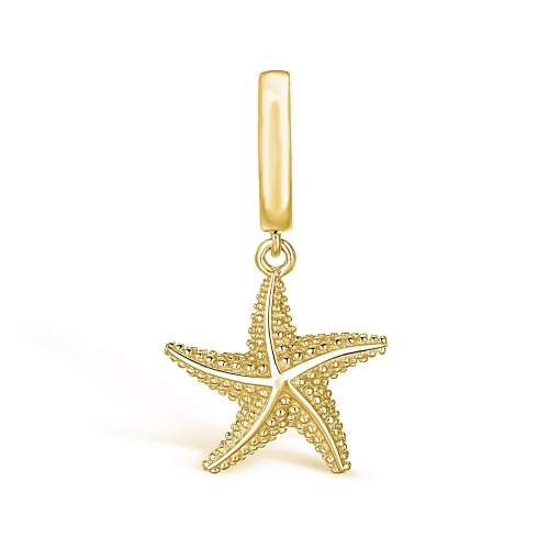 Starfish Charm Pendant gold-plated