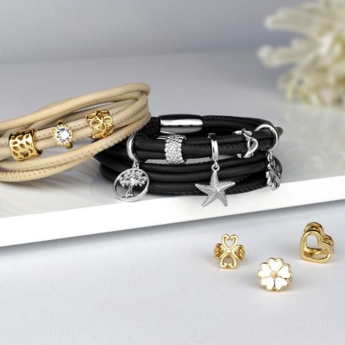 Armband Leder für Damen mit Charms