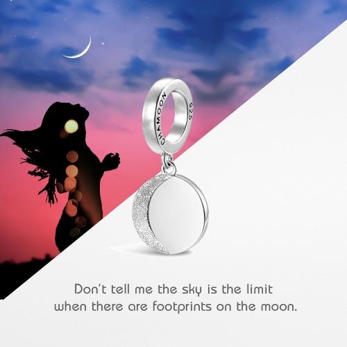Moon Charm Pendant Silver
