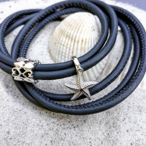 Starfish Charm-Anhänger Silber