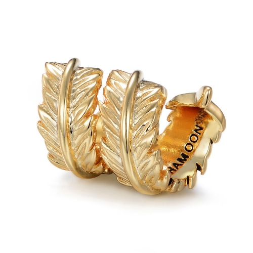 Feather Charm gold-plated