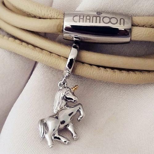 Unicorn Charm-Anhänger Silber