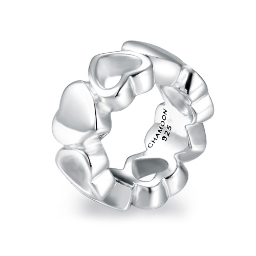 Sweet Hearts Charm Silver