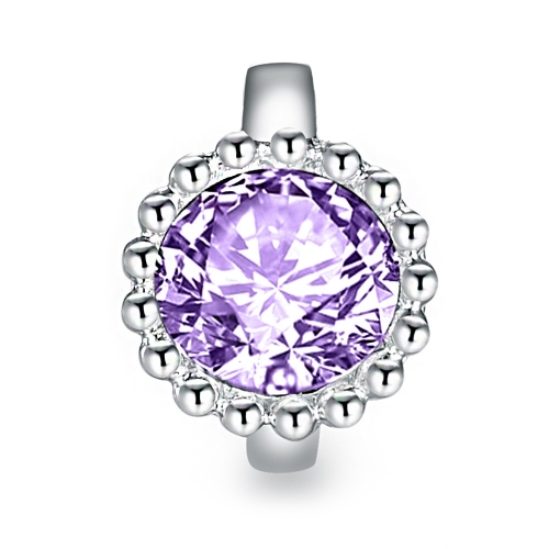Ultra Violet Crystal Charm Silber