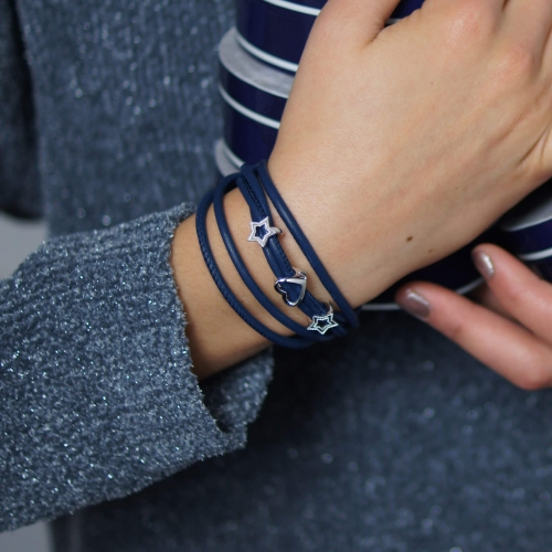 Bracelet Blue TRIO Double