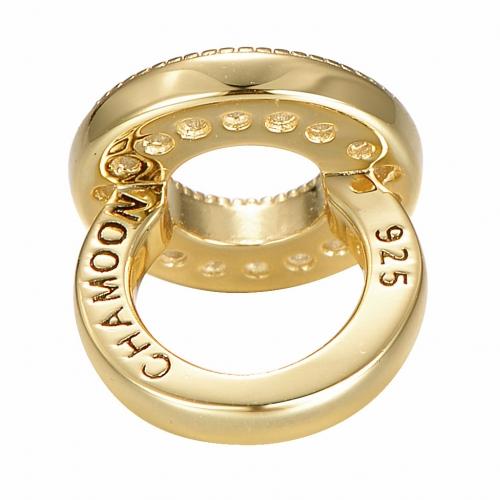 Circle of Diamonds Charm Seite Gold