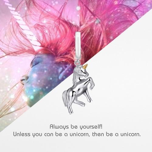 Unicorn Charm Pendant Silver