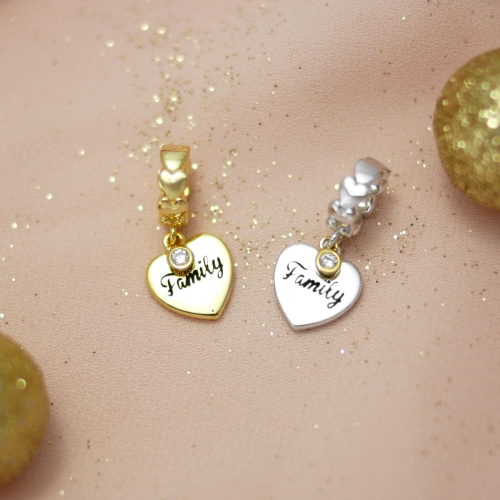 Family Love Charm Gold
