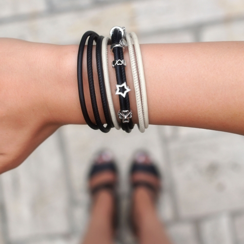 Armband Schwarz TRIO Double