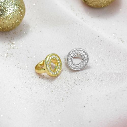 Circle of Diamonds Charm Silber