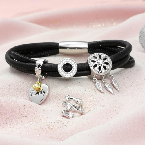 Family Love Charm Silber