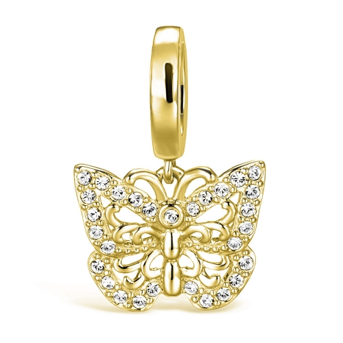 Butterfly Charm Pendant gold-plated