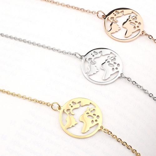 BonnyWorld Armband Weltkugel Silber