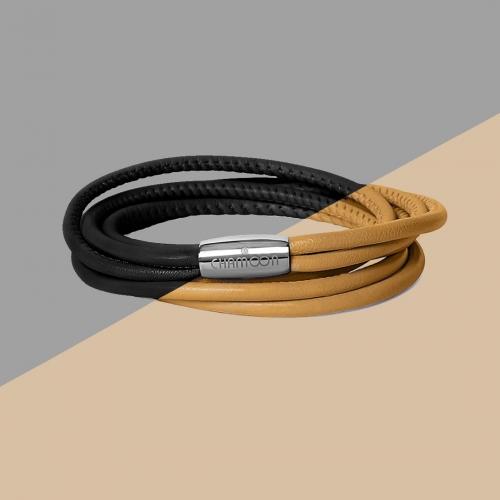 Wickelarmband in Braun und Schwarz