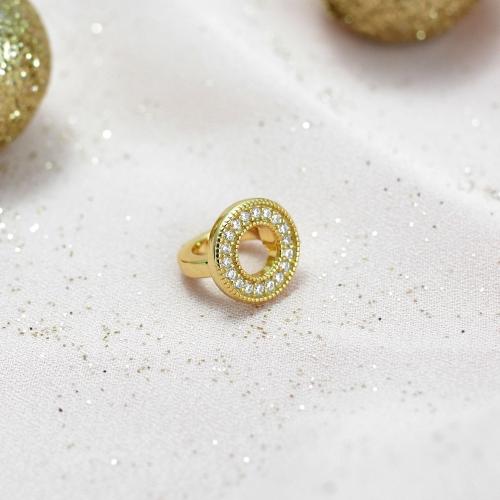 Circle of Diamonds Charm Gold
