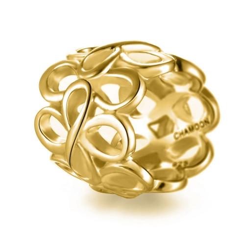 Infinity Charm vergoldet